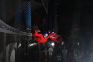 Me in Cali trying out iFly. Simulation skydive